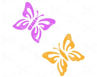 Butterfly SVG, DXF, PNG, Eps Cutting Files, butterfly cut files, butterfly clipart, butterfly monogram, svg files for cricut & silhouette