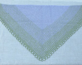 Purple and green spring scarf - scarf / shawl was