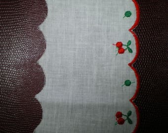 white cotton scalloped edge and embroidered