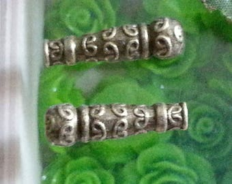 20 beads Tibetan style lead and cadmium free, bronze antique 22 x 7 x 7 mm, hole: 2 mm