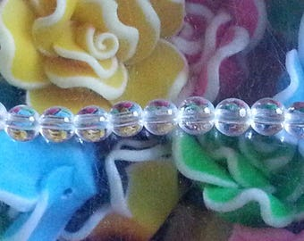 1 of 4 mm Crystal beads, 1 mm hole