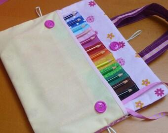 Portfolio and colored pencils Kit