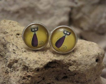 """""""Collection cat"""" Stud Earrings 2"""