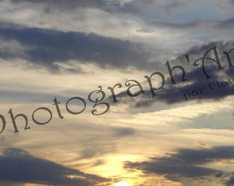 Photography art - Sun and clouds: 30 x 20