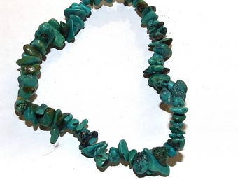 1 turquoise chips elastic bracelet ideal for creating