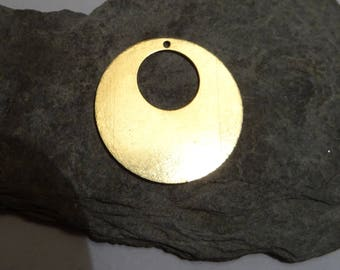 1 disc circle 2.8 cm sequins brushed brass has mount only or for email or print