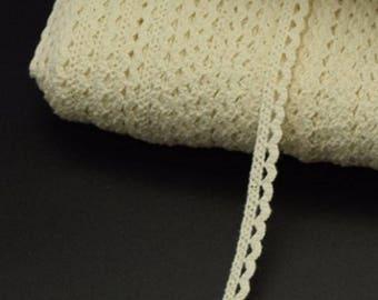 7 mm beige cotton lace
