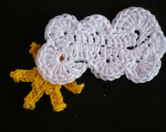 Sun and cloud applique Sun, cloud applique crochet