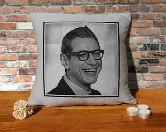 Jeff Goldblum Pillow Cushion - 16x16in - Grey