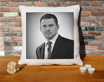 Channing Tatum Pillow Cushion - 16x16in - White