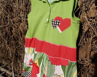 Valentine's Day Tunic - Small upcycled tunic