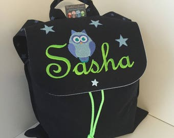Backpack child nursery with personalized name for the school size 2/3 years