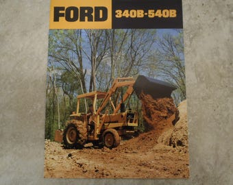 Ford 340B & 540B Construction Tractor Literature