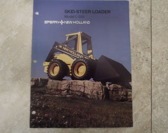 New Holland Model L-555 Skid-Steer Loader Literature
