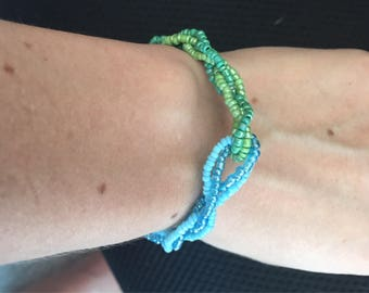 Beaded braided bracelet