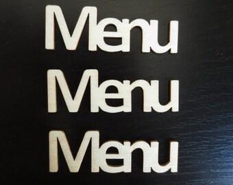 """wooden """"MENU"""" - Artemio 5 cutouts"""