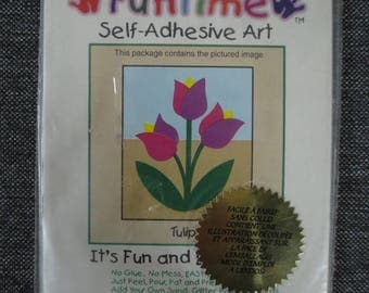 """Painting """"Tulip"""" sand colored do-it-yourself"""