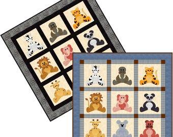 Zoo Babies, applique pattern
