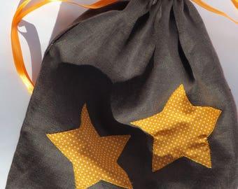 Small tote bag stars Tangerine