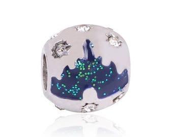 Bead large hole style pandora charms, rhinestones