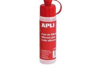 Colle silicone 25 ml - APLI - Ref 14772 ---------- Jusqu'à épuisement du stock !