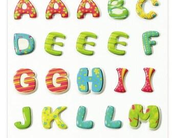 "Stickers Cooky relief ""Alphabet Multicolor"" x 35 - MAILDOR - Ref 560522"