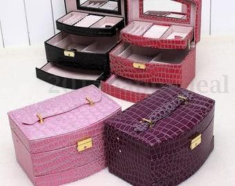 1 Purple jewelry display box