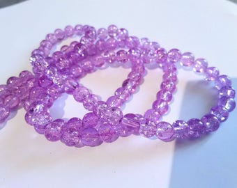 25 6 mm cracked glass beads