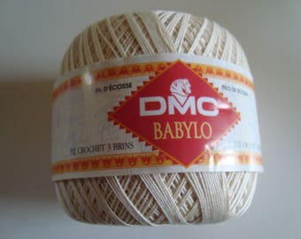 2 balls of yarn 50g of Scotland DMC Babylo ecru size 20/12 Crochet 1.25/1.50