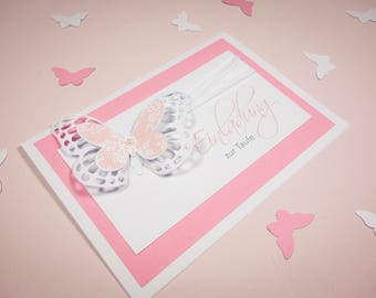 Invitation card with butterfly