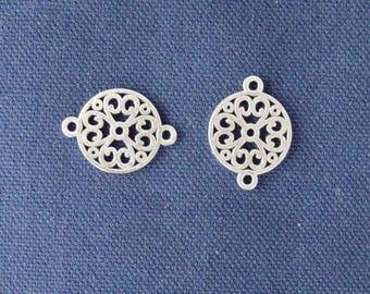 2 connectors silver arabesques