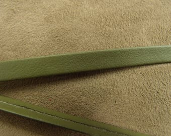 Ribbon Leatherette - 0.7 cm - khaki Green