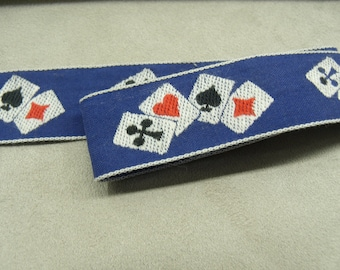FANCY CASINO Ribbon - 25 mm - blue