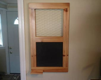 Rustic Chicken Wire Chalkboard Picture Frame