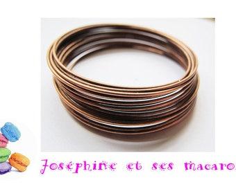 10 turns of memory bracelet 60x0.6 cm copper wire