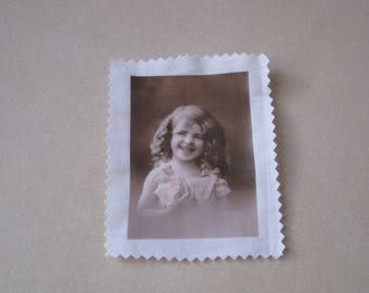 Image transfer, to sew, vintage, little girl