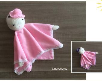 Amigurumi soft all-head Crochet Hat-fleece soft pink lace white purple bedroom children birthstone-handmade baby gift