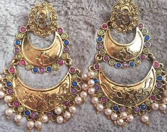 Jhumka Indian Earrings, Traditional Jewelry Jhumki, Chandbali Jhumka, Bollywood Earrings, Ethnic Jewelry, Jhumka Ethnic USA