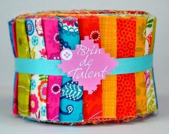 Spring Roll quilt - strips of fabric for quilt - Jelly Roll