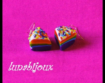 how to make rainbow earrings polymr