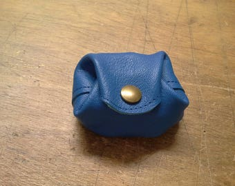 Lagoon blue genuine leather wallet.