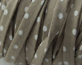 Liberty taupe dots 100% cotton 50 cm