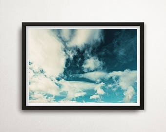 Clouds Print, Clouds Poster Art, Minimalist Wall Art, Clouds Printable Art, Sky Wall Art, Sky Poster Photography, Heaven, Nature Art, Decor