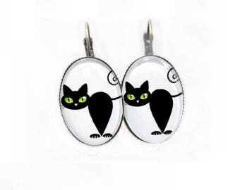 These earrings fun ● ● black cats