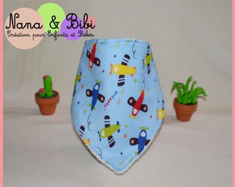 Bandana bib. Cotton and sponge. Anti-Bavouille bib