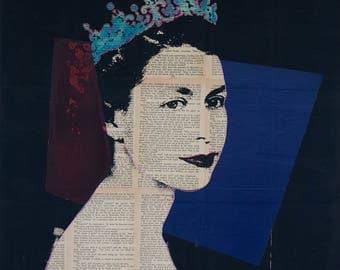 Queen Elizabeth II Pop art,  Royal Wall Art