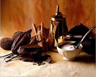 POSTER wall DECO * chocolate cream EVAN * 30 cm x 24 cm