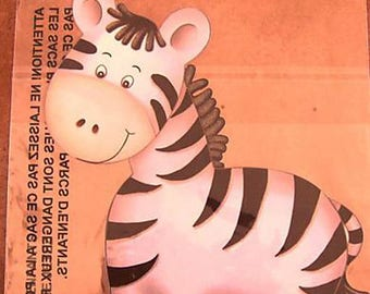 STICKERS for furniture DECORATION child * Zebra * 24 cm x 24 cm