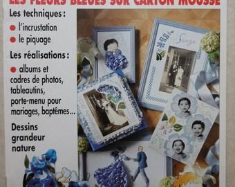 """""""blue flowers on foam board"""" leisure magic book"""