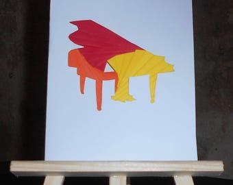 Piano in iris folding card